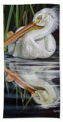 Sandy's Pelican Hand Towel