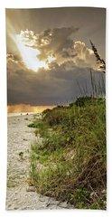 Sanibel Dune At Sunset Hand Towel by Greg Mimbs