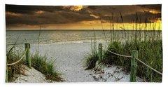 Sanibel Island Beach Access Hand Towel by Greg Mimbs