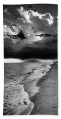 Sanibel Island Rain In Black And White Bath Towel