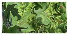 Sanibel Seagrapes Hand Towel by Melinda Saminski