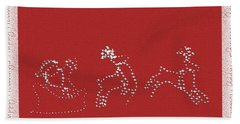 Santa And His Team Bath Towel by Ellen O'Reilly