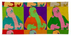 Santa Claus Andy Warhol Style Bath Towel