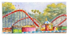 Santa Cruz Beach Boardwalk Hand Towel