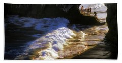 Santa Cruz 'bridge' California Coastline Hand Towel