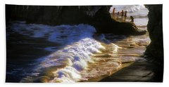 Santa Cruz 'bridge' California Coastline Bath Towel