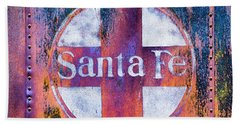 Bath Towel featuring the photograph Santa Fe Rr by Lou Novick