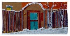 Santa Fe Snowstorm Bath Towel by Joseph Frank Baraba