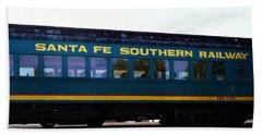 Santa Fe Train Hand Towel by Joseph Frank Baraba