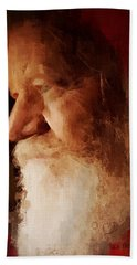 Bath Towel featuring the digital art Santa by Lisa Noneman