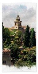 Santa Maria De La Alhambra Bath Towel by Anthony Dezenzio