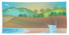 Santa Monica California Horizontal Scene Hand Towel