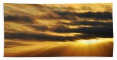 Hand Towel featuring the photograph Santa Monica Golden Hour by Kyle Hanson
