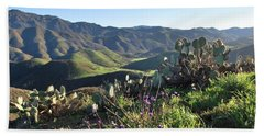 Santa Monica Mountains - Cactus Hillside View Hand Towel