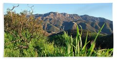 Santa Monica Mountains Green Landscape Hand Towel