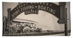 Santa Monica Sign Series Modern Vintage Bath Towel