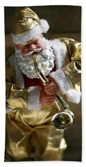 Santa Playing The Saxaphone Hand Towel