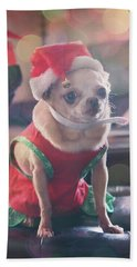 Hand Towel featuring the photograph Santa's Little Helper by Laurie Search