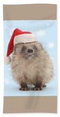 Santa's Prickly Pal Bath Towel