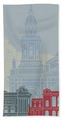 Santiago De Chile V2 Skyline Poster Hand Towel