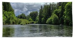 Santiam River Fishing Hand Towel