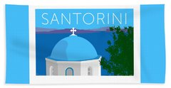 Santorini Dome - Blue Bath Towel