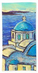 Santorini  Blue Bath Towel