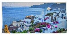 Santorini Greece Dwp416136  Bath Towel