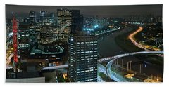Sao Paulo Skyline Modern Corporate Districts Brooklin Morumbi Chacara Santo Antonio Bath Towel