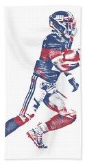 Saquon Barkley New York Giants Pixel Art 1 Bath Towel