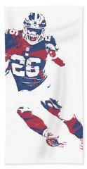 Saquon Barkley New York Giants Pixel Art 2 Bath Towel