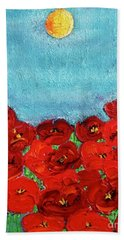 Sarah's Poppies Bath Towel