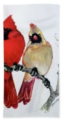Sassy Pair Hand Towel by Marcia Baldwin