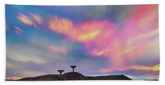 Bath Towel featuring the photograph Satellite Dishes Quiet Communications To The Skies by James BO Insogna