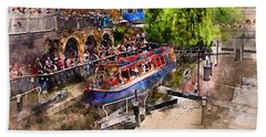 Saturday Afternoon At Camden Lock Bath Towel by Nicky Jameson
