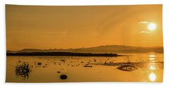 Saturday Morning Along The Estuary  Hand Towel by Martina Fagan