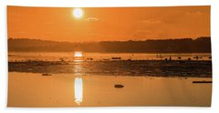 Saturday Morning Along The Estuary Pano Bath Towel