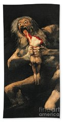 Saturn Devouring One Of His Children  Hand Towel
