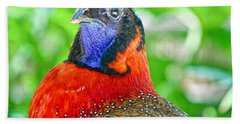 Hand Towel featuring the photograph Satyr Tragopan  by Judy Kay