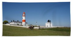 Souter Lighthouse And Foghorn. Bath Towel