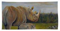 Savanna Overlook, Rhinoceros  Hand Towel