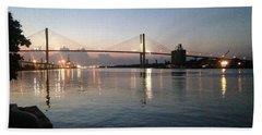 Savannah Bridge Evening  Hand Towel