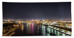 Savannah Georgia Skyline Hand Towel by Robert Loe