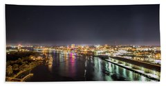 Savannah Georgia Skyline Bath Towel