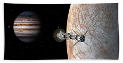 Hand Towel featuring the digital art Savannah Leaving Europa by David Robinson