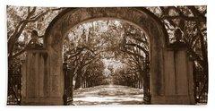 Savannaha Sepia - Wormsloe Plantation Gate Hand Towel