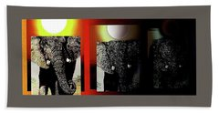 Save Our Precious Elephants  Bath Towel by Hartmut Jager