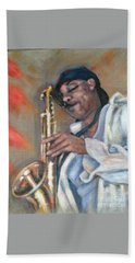 Sax And Linen Hand Towel