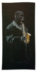 Sax Player Hand Towel