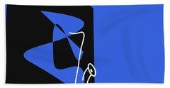 Saxophone In Blue Bath Towel by David Bridburg